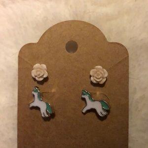 Wild Roses NEW stud earring set